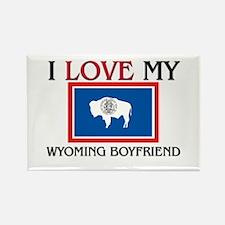I Love My Wyoming Boyfriend Rectangle Magnet