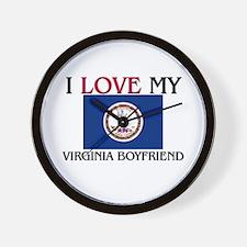 I Love My Virginia Boyfriend Wall Clock