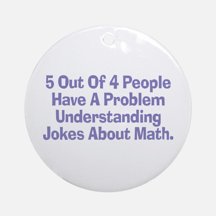 Math Jokes Ornament (Round)