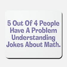 Math Jokes Mousepad