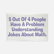 Math Jokes Rectangle Magnet
