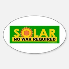 Solar ... Anti-War Oval Decal