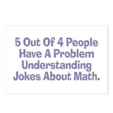 Math Jokes Postcards (Package of 8)