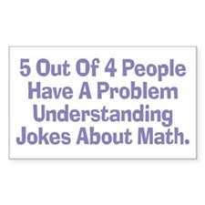 Math Jokes Rectangle Decal