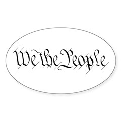 We the People Oval Sticker (50 pk)