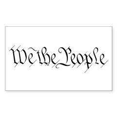 We the People Rectangle Sticker 10 pk)