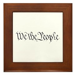We the People Framed Tile