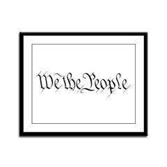 We the People Framed Panel Print
