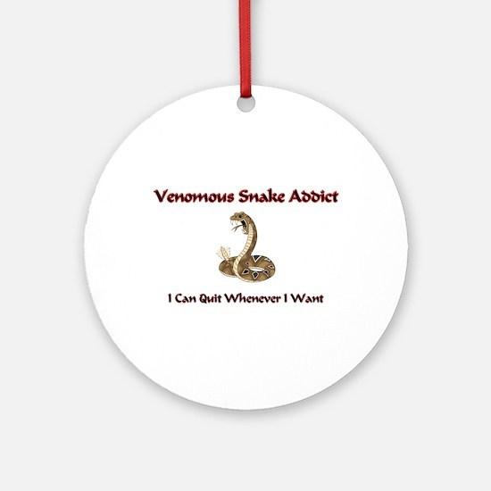 Venomous Snake Addict Ornament (Round)