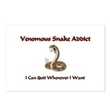Venomous Snake Addict Postcards (Package of 8)
