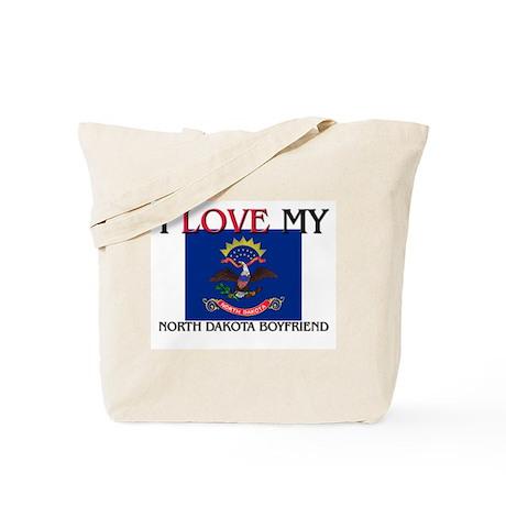 I Love My North Dakota Boyfriend Tote Bag