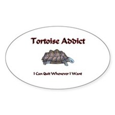 Tortoise Addict Oval Decal