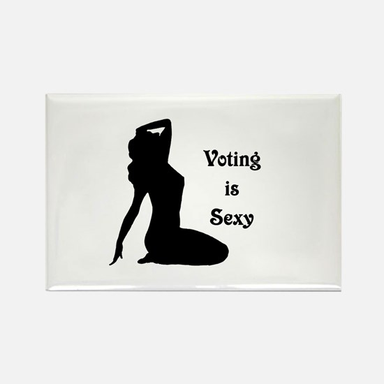 Voting is Sexy Rectangle Magnet