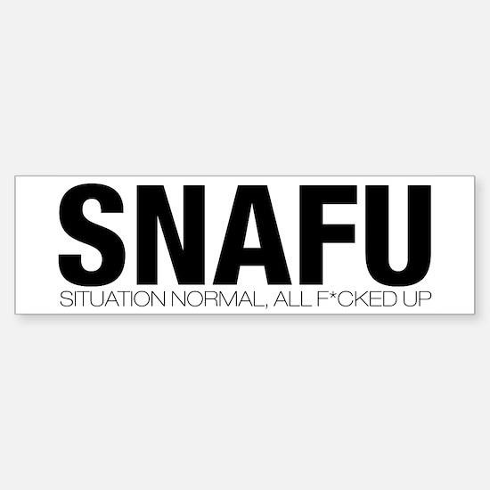 SNAFU Bumper Bumper Bumper Sticker