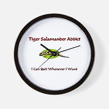 Tiger Salamander Addict Wall Clock