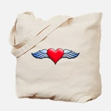 Heart with Wings Tattoo Inspired Tote Bag