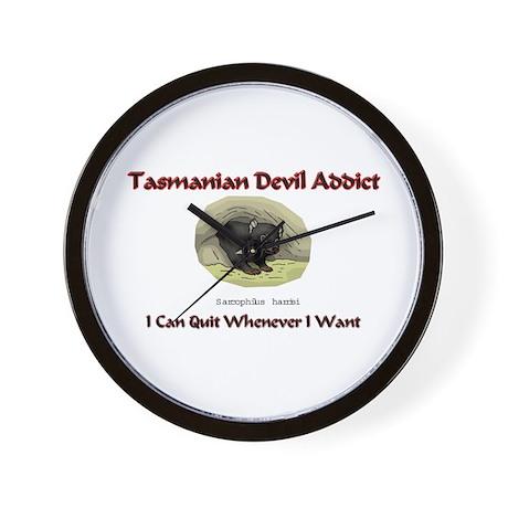 Tasmanian Devil Addict Wall Clock