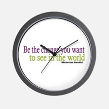 Gandhi Quote Wall Clock