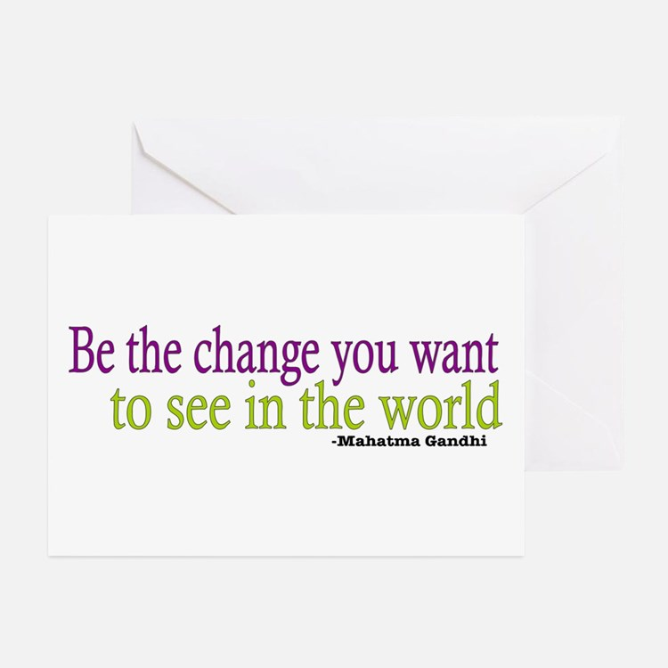 Gandhi Quote Greeting Cards (Pk of 20)