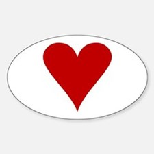 Hearts! Oval Decal
