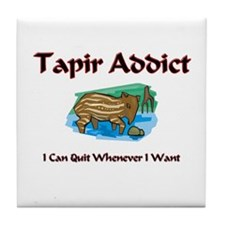 Tapir Addict Tile Coaster
