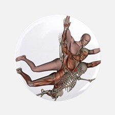 """Muscles, Bones and Skin 3.5"""" Button"""