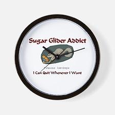 Sugar Glider Addict Wall Clock