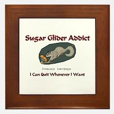 Sugar Glider Addict Framed Tile