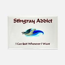 Stingray Addict Rectangle Magnet