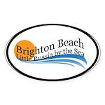 Brighton Beach Oval Sticker (10 pk)