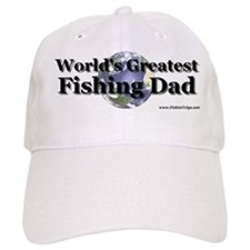 """World's Greatest Fishing Dad"" Ball Baseball Cap"