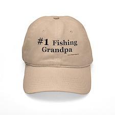 """""""#1 Fishing Grandpa"""" Ball Baseball Cap"""