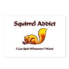Squirrel Addict Postcards (Package of 8)