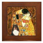 Kiss/Tri Color Sheltie Framed Tile