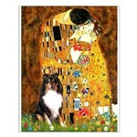 Kiss/Tri Color Sheltie Small Poster
