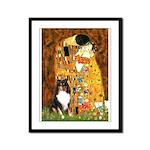 Kiss/Tri Color Sheltie Framed Panel Print