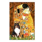 Kiss/Tri Color Sheltie Postcards (Package of 8)