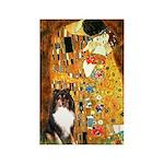 Kiss/Tri Color Sheltie Rectangle Magnet (10 pack)