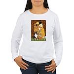 Kiss/Tri Color Sheltie Women's Long Sleeve T-Shirt