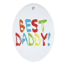 Best Daddy Oval Ornament