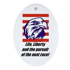 """""""The Next Race!"""" Oval Ornament"""