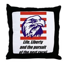 """The Next Race!"" Throw Pillow"