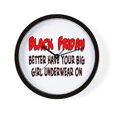 Black Friday big girl Wall Clock