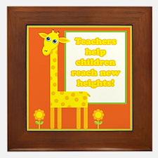 Cute Teacher Gift Framed Tile