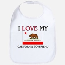 I Love My California Boyfriend Bib