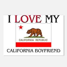 I Love My California Boyfriend Postcards (Package