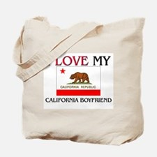 I Love My California Boyfriend Tote Bag