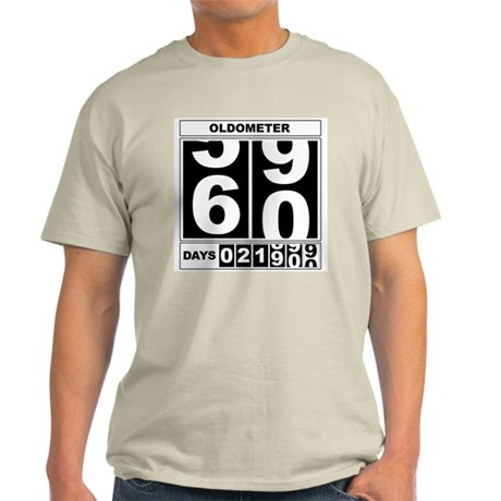60th Birthday Oldometer Light T-Shirt