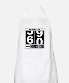 60th Birthday Oldometer BBQ Apron