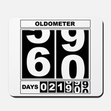 60th Birthday Oldometer Mousepad
